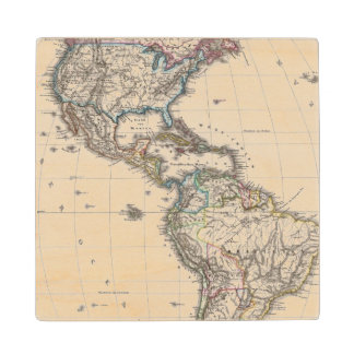 America by Stieler Wood Coaster