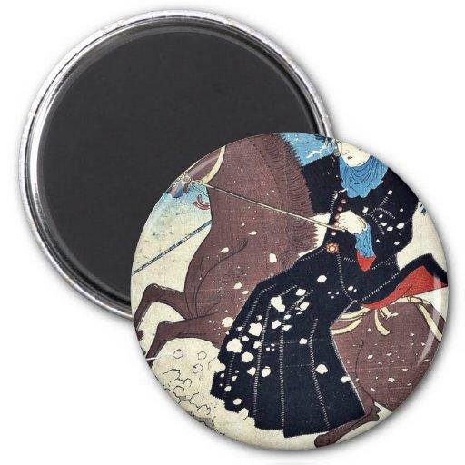 America by Utagawa, Hiroshige Ukiyoe Magnet