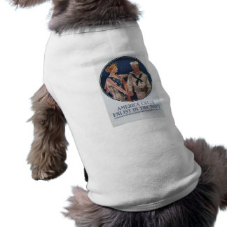 America Calls Enlist in the Navy Pet Clothes