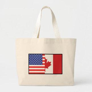 America Canada Large Tote Bag