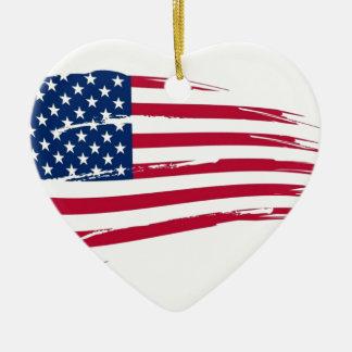 America Ceramic Heart Decoration