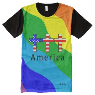 America Christianity! RAINBOW SHIRT! All-Over Print T-Shirt