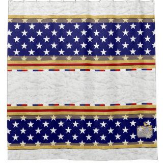 America Colors Stars Plain Clouds Shower Curtain