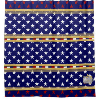America Colors Stars Shower Curtain