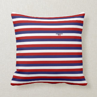 America Colors Stripes Throw & Lumbar Pillows