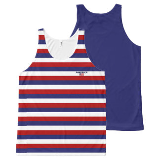 America Colors with Flag Modern Unisex Tank Online