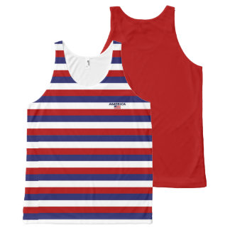 America Colors with Flag Modern Unisex Tank Top
