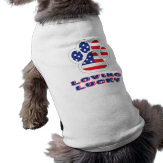 America Doggy Ribbed Tank Top