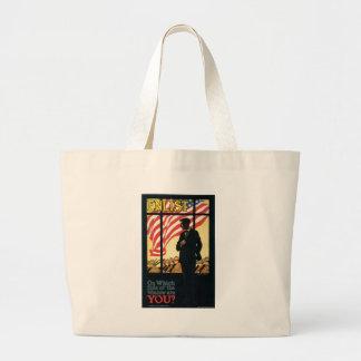 America Enlist World War II Canvas Bags