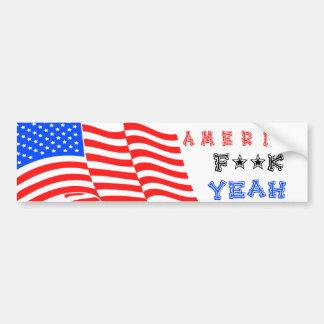 America F**k Yeah! Bumper Sticker