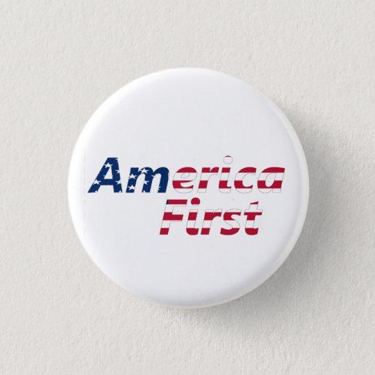 America First 3 Cm Round Badge