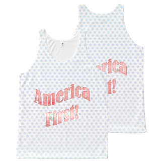 """""""America First"""" Inauguration Quote Typography All-Over Print Tank Top"""