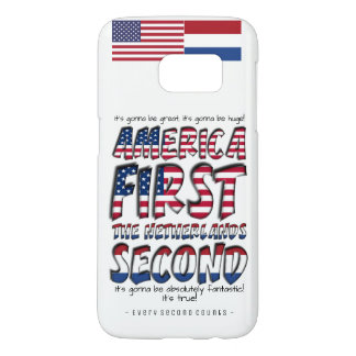 America First The Netherlands Second Typography