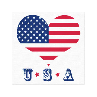 America flag American USA heart Canvas Print