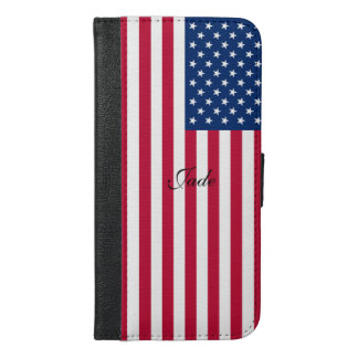 America flag American USA iPhone 6/6s Plus Wallet Case