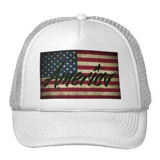 America Flag Mesh Hat