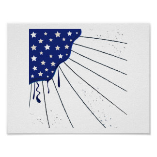 America Flag stylish Popart : Original art Poster