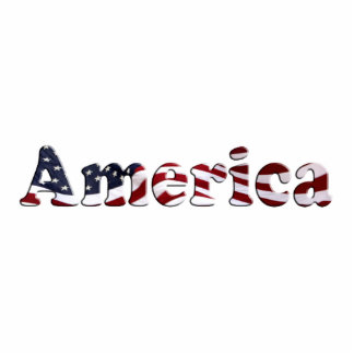 America Flag Text Design Photo Cut Out