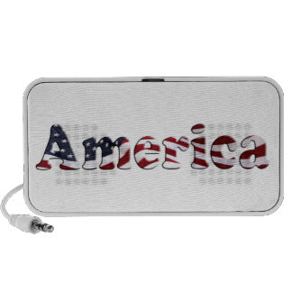America Flag Text Design Travel Speaker