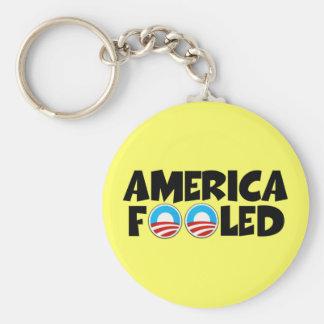 America fooled-anti Obama stuff Keychains