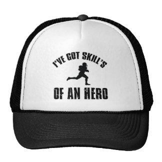 america football design trucker hat