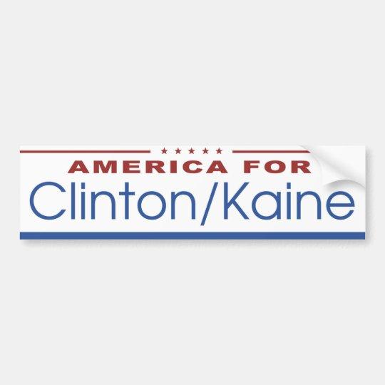 America for Clinton / Kaine 2016 Bumper Sticker