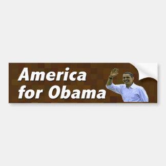 America for Obama Car Bumper Sticker
