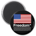 America: Freedom terms and conditions Fridge Magnets