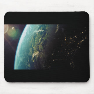 America From Space from Day to Night Mouse Pad