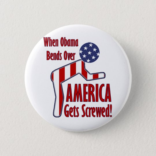 America Gets Screwed 6 Cm Round Badge