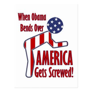 America Gets Screwed Postcard