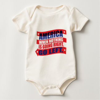 America: Go Left Apparel Baby Bodysuit
