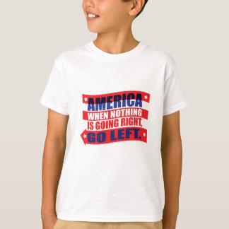 America: Go Left Apparel T-Shirt