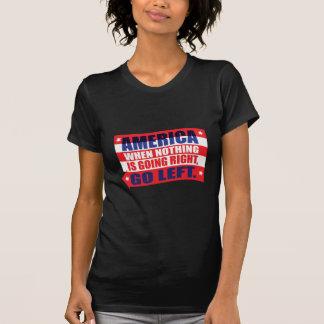 America: Go Left Apparel Tshirts