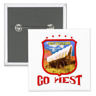 America Go West Pinback Button
