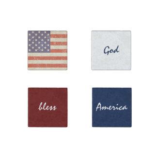 America God Bless America Stone Magnet