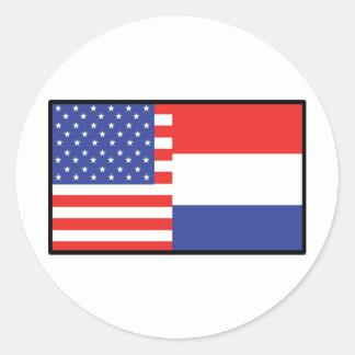 America Holland Round Sticker
