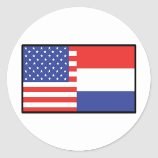 America Holland Round Sticker