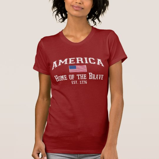 AMERICA Home of the BRAVE Est. 1776 Tee
