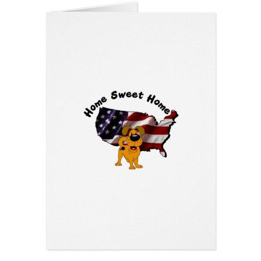 America: Home Sweet Home - USA Silhouette Greeting Card