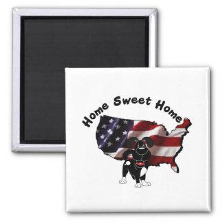 America Home Sweet Home - USA Silhouette Refrigerator Magnets