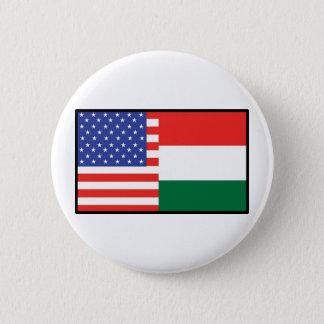 America Hungary 6 Cm Round Badge