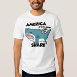 America is a Shark (or see the new distressed one) Tee Shirt
