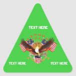 America Is Not Forgotten Triangle Only See Notes Triangle Stickers