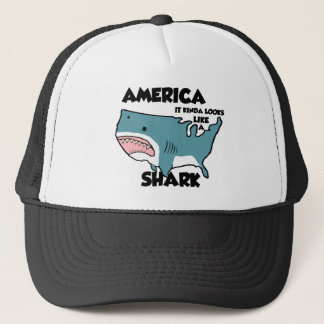 America Kinda Looks Like a Shark Hat