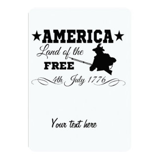 America - Land of the free 13 Cm X 18 Cm Invitation Card