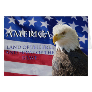 America Land of the Free Greeting Cards