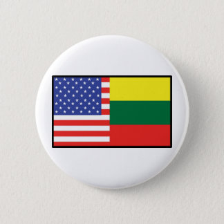 America Lithuania 6 Cm Round Badge