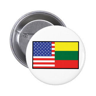 America Lithuania 6 Cm Round Badge