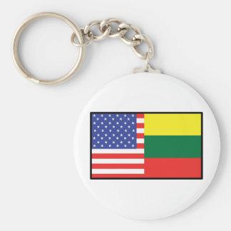 America Lithuania Key Ring